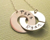 """Holiday gift. Mother's Day gift.  Personalized Jewelry.  Handmade Personalized Sterling Silver Jewelry """"Always and Forever"""" Necklace"""