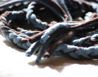 Braided Fabric Belt - Jersey - Extra Long - Eco Friendly - Organic Clothing - Several Colors Available