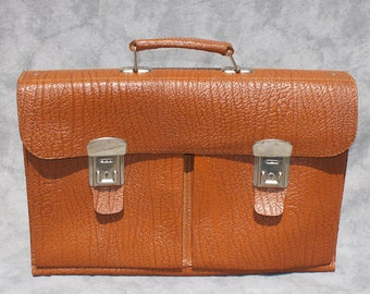 Brown Leather Briefcase Portfolio Bag