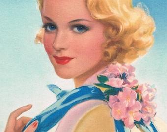 Betty Lou Calendar Art Print