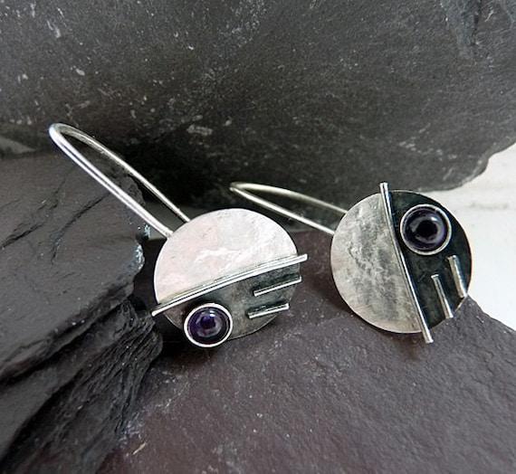 Sterling Silver Earrings with Amethyst EA8