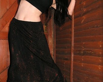 Post Apocalyptic Zombie Steampunk Distressed Maxi Skirt Rusted Avant Garde Edgy goth Metal