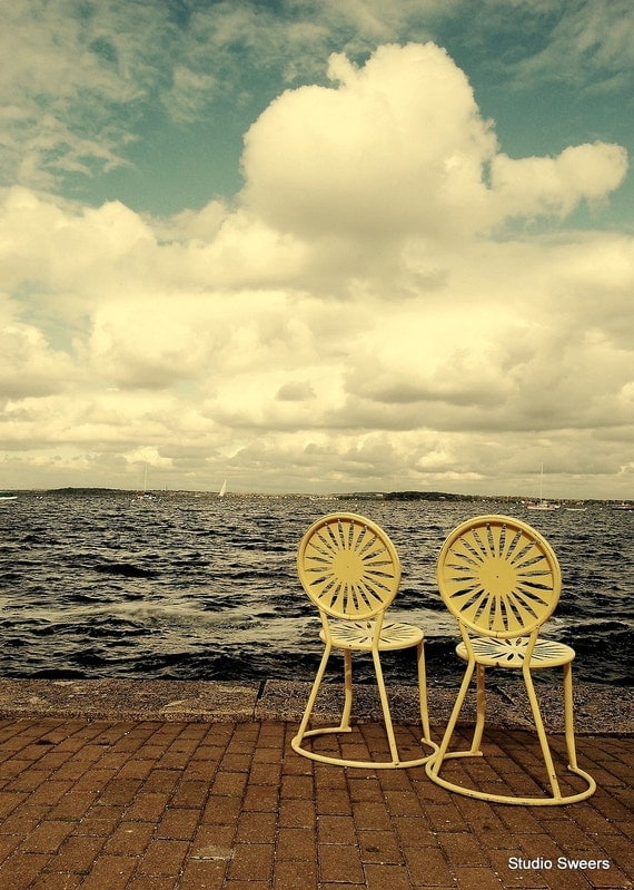 Union Terrace Seats for Two // 5x7 Madison Wisconsin Photography // Midwest Art