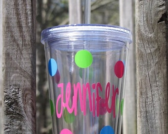 Personalized Clear Acrylic Tumbler - 16 oz.