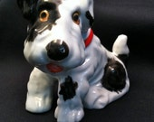 Vintage Wire Fox Terrier Bank