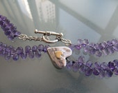 Amathyst Heart Necklace
