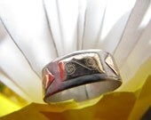 Ring Silver And Gold Band