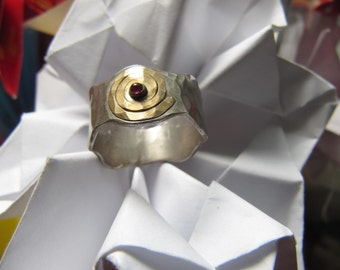 Handmade  Silver  Waves  Ring