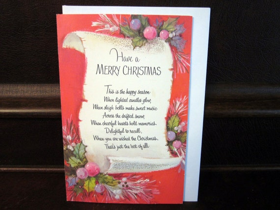 Sale s christmas card poem with colorful by prancinggoat