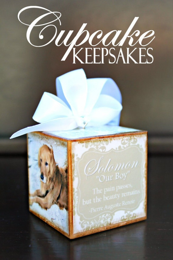 No.3 In Memory of Pet Custom Personalized Photo Block Ornament Damask Gift