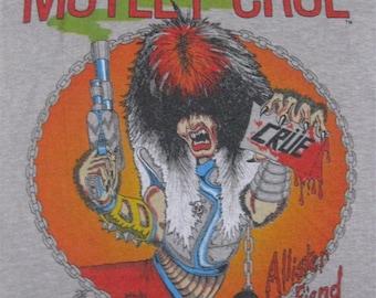 Original MOTLEY CRUE vintage 1983 tour TSHIRT small