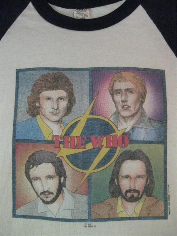 Original THE WHO vintage 1979 tour TSHIRT jersey