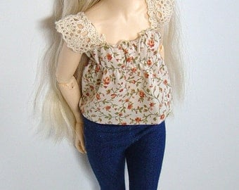 MNF/Minifee/Unoa/Slim MSD Autumn Rose Top with Lace Sleeves