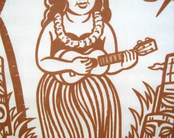 Hula Girl Pillowcases/ Hawaiian/Ukelele/Tiki/Pillows