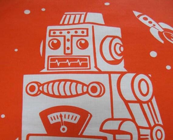 Orange Robot Pillowcases