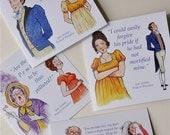 Jane Austen, 'Pride & Prejudice' set of blank greetings cards