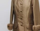 1960s Vintage Coat Jacket Latte Brown Ike Clark