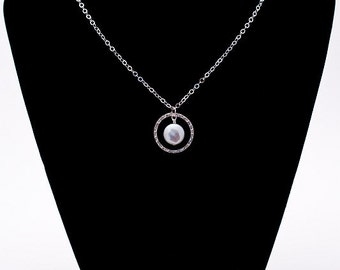 Encircled Pearl Necklace