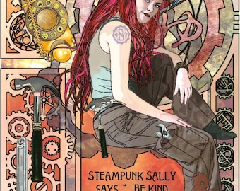 Steampunk Sally 11x14