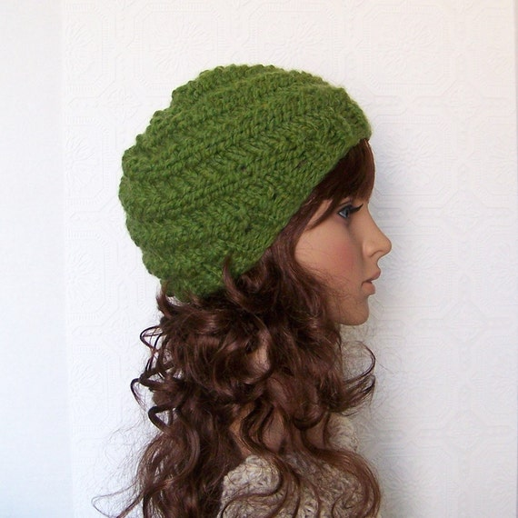 Hand knit hat - your color choice - handmade Winter Fashion Accessories by Sandy Coastal Designs