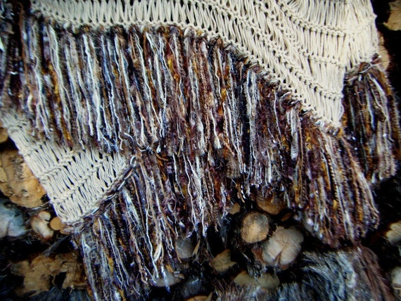 Fringe Throw Blanket Afghan Home Decor in Brown, Beige, Ivory, Tan, Cream or Any Colors. SHIPPING to Canada