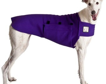 GREYHOUND Tummy Warmer, Dog Clothing, Dog Sweater, Fleece Dog Coat