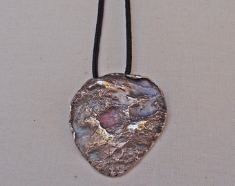 Silver Peaks and Valleys Pendant for Men OOAK Handmade