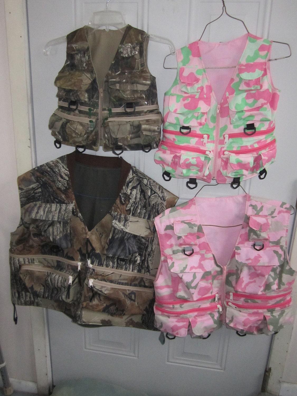 Fishing vestcustom made fishing vest in children 39 s sizes for Kids fishing vest