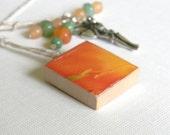 Scrabble Tile Book Thong - Orange Tulip