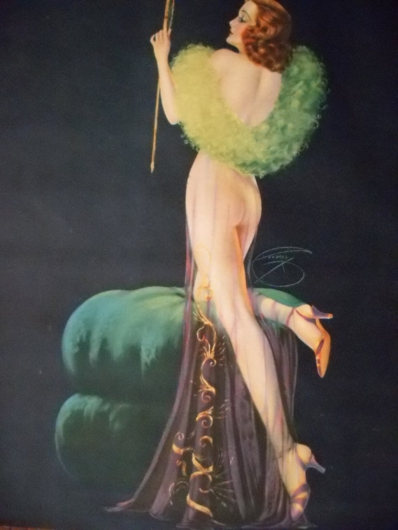 Vintage Pin Up Girl Signed Billy Devorss 1937 RESERVED MIA
