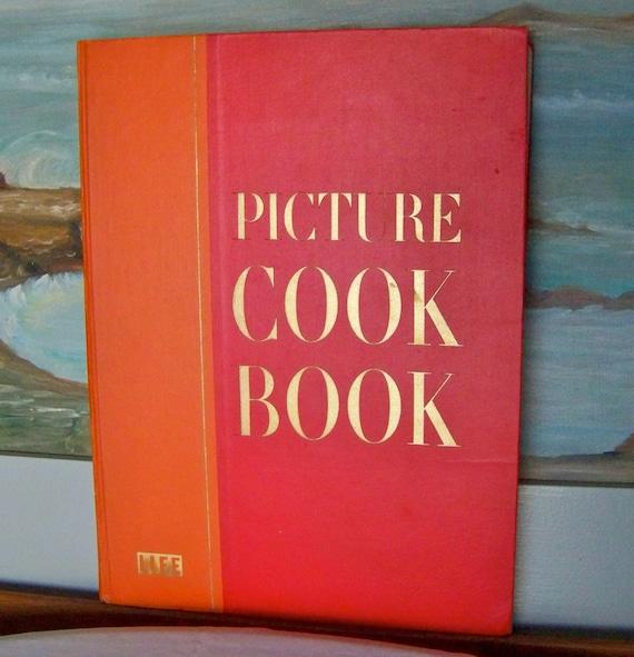 Vintage Picture Cook Book Life Cookbook Big Orange Cookbook First Edition 1958 Coffee Table Cookbook