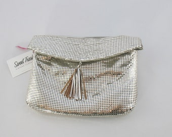 Vintage 1970s Silver Whiting and Davis Mesh Purse