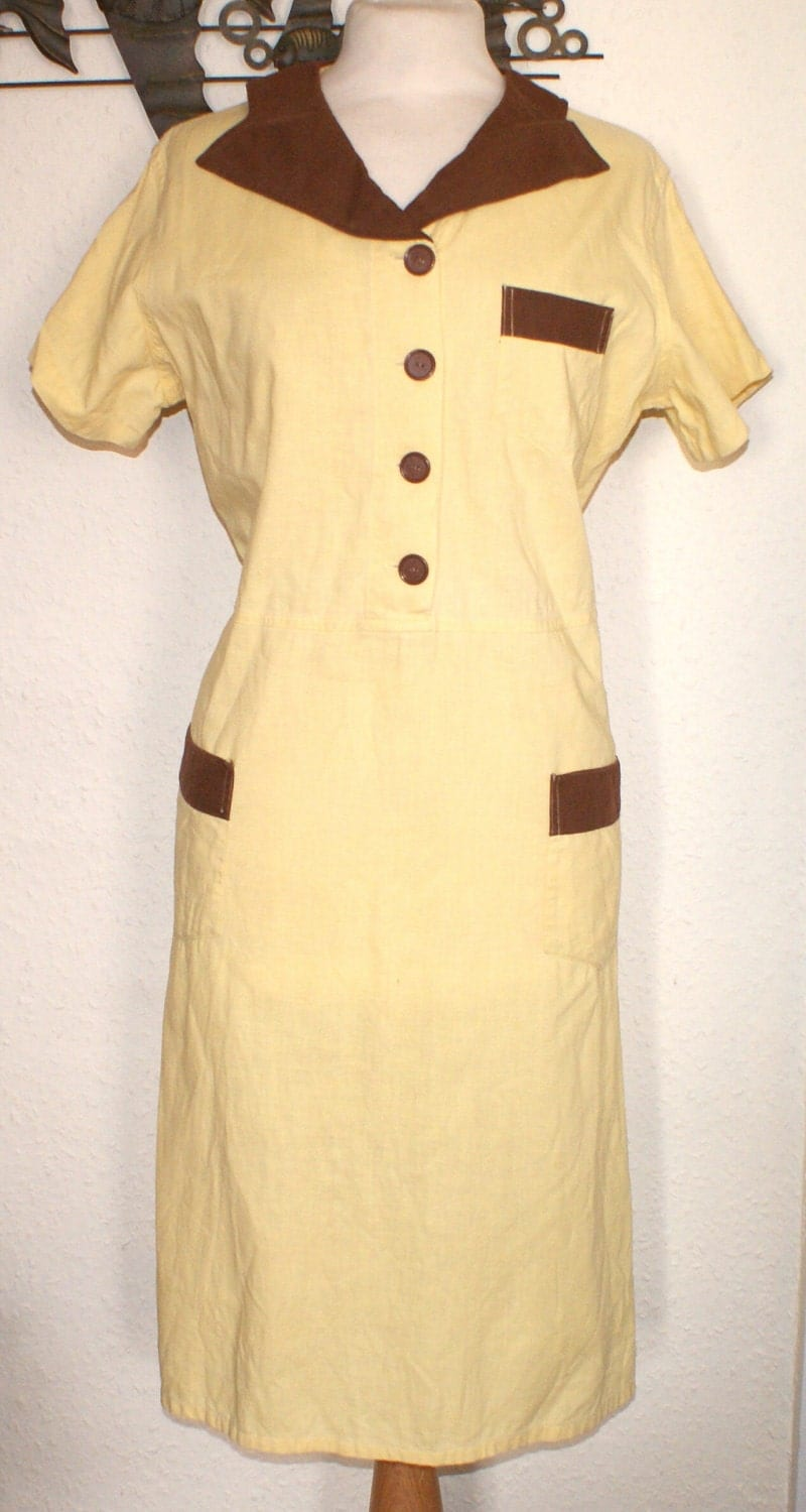 Reduced Vintage 1950s Waitress Uniform Dress Outfit S M Would
