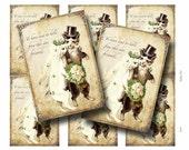 Vintage CAT WEDDING Digital Collage Sheet Paper Crafts Album Decoupage Original Whimsical Instant Download GalleryCat CS142