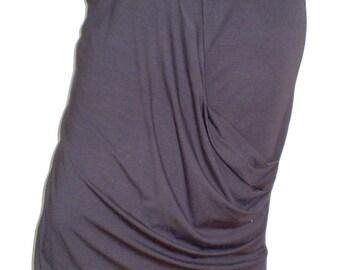 Gray skirt with an elegant drape
