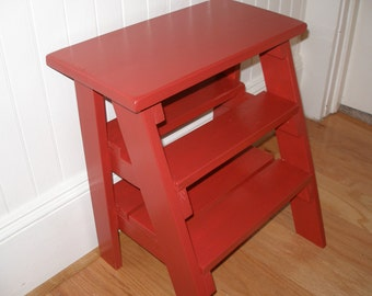 Step ladder, stool, red, gift idea