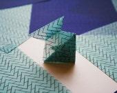 Translucent Origami Paper with Chevron Tessellation- Handmade Origami Paper - Medium Sized