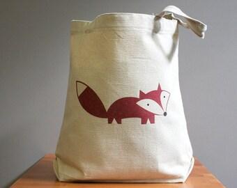 Fox tote bag, fox tote
