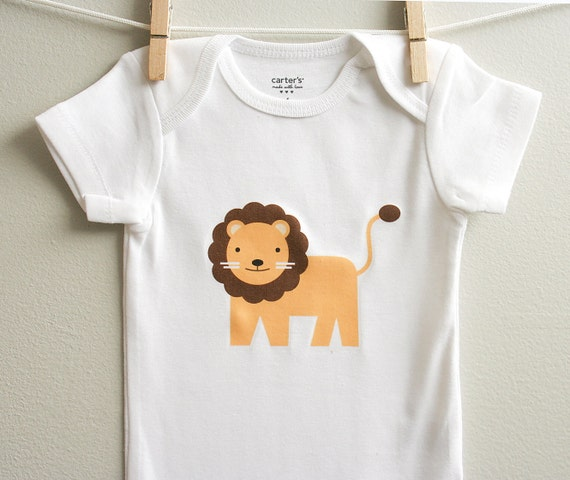 Lion baby clothes Long or short sleeve by