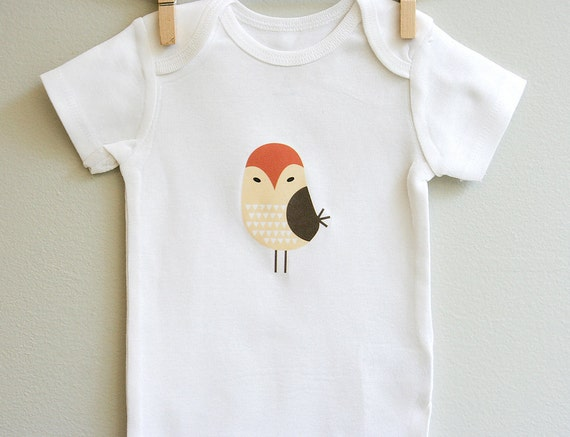 Cute Baby Clothes for Girls Newborn, Owl Baby Bodysuit Personalized with Custom Name or Custom Text