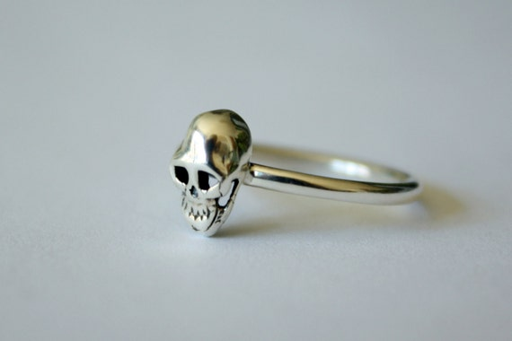 "Petite Mort ""Little Death"" Skull Ring in sterling silver - sterling silver skull ring - tiny skull ring - skull jewelry - womens skull ring"
