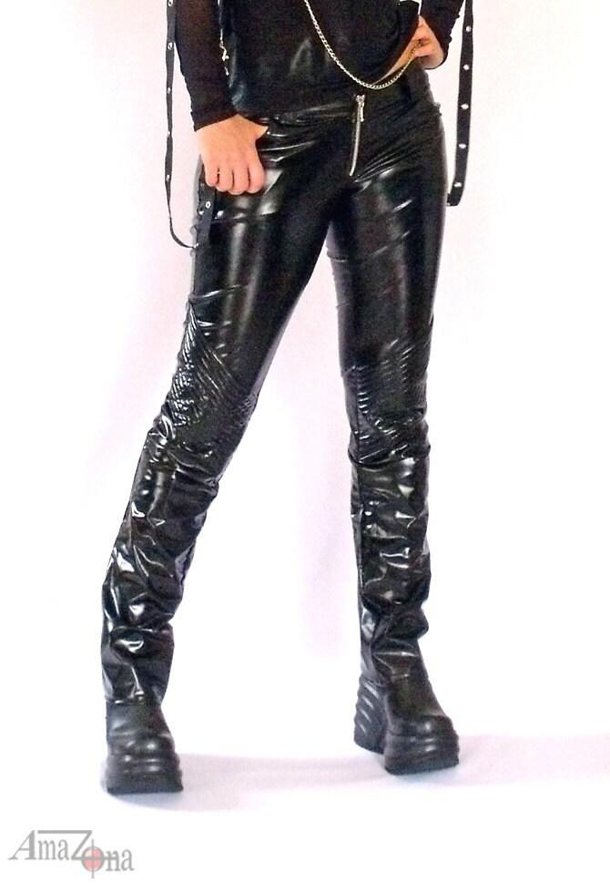 Dirty Black Vinyl Pants