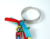 little prince ring - blue ,yellow and red-  fairy tale fashion for her- teen gift-under 15- fantasy jewelry for kids-adjustable ring