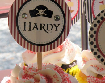 PIRATE PARTY CIRCLES Birthday Party Boy - Printable