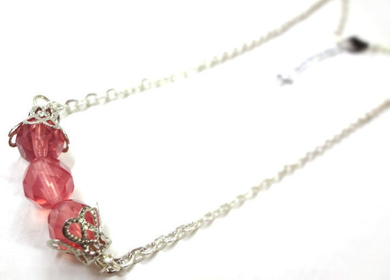 Pretty Rose Crystal Necklace