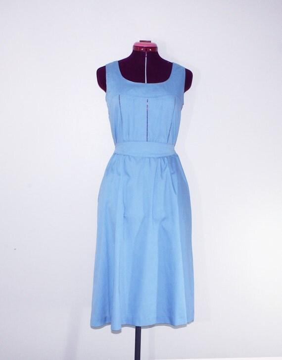 Summer sleeveless blue dress size S/M