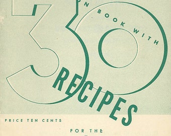 Vintage 1940s Cookbook GE SANDWICH GRILL Recipe Book & Appliance Manual