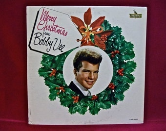 CHRISTMAS...BOBBY VEE - Merry Christmas from Bobby Vee - 1962 Vintage Vinyl Record Album