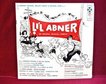 LI'L ABNER - Original Musical Comedy - 1956 Vintage Vinyl Record Album