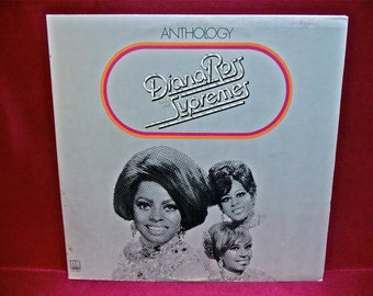 DIANA ROSS and the SUPREMES - Anthology - 1974 Vintage Vinyl 3 lp GATEFOLd Record Album...w/insert booklet